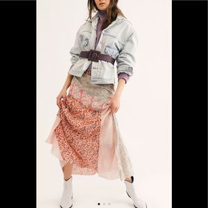 Free People New Palma Patchwork Skirt, 8
